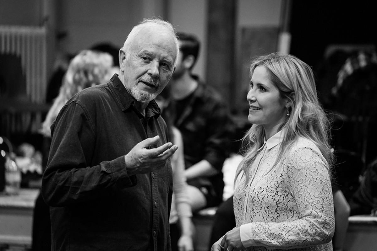 David Essex and Heidi Range in rehearsal for Jeff Wayne's The War Of The Worlds