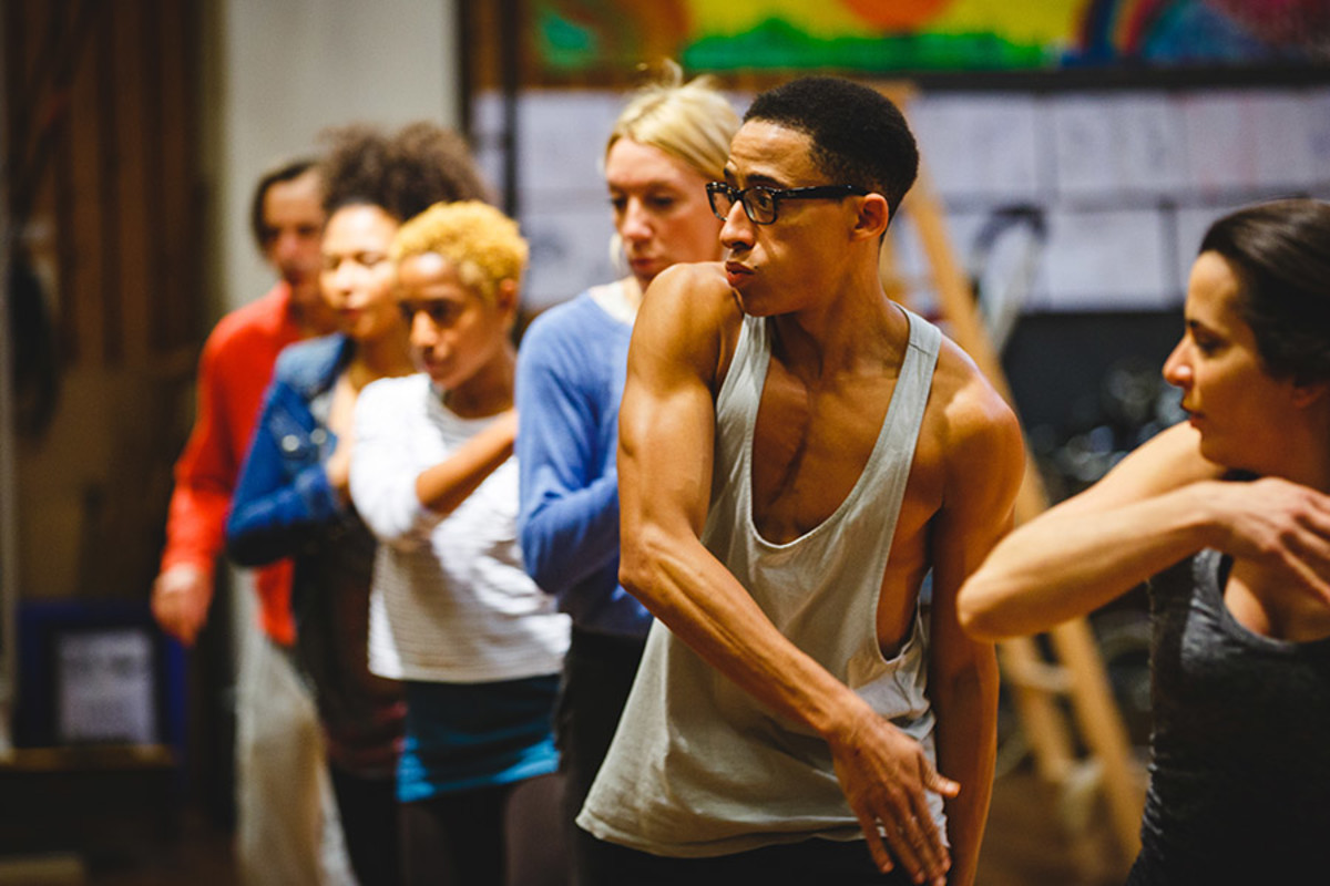 The Company rehearse Peter Pan (Photo Steve Tanner)