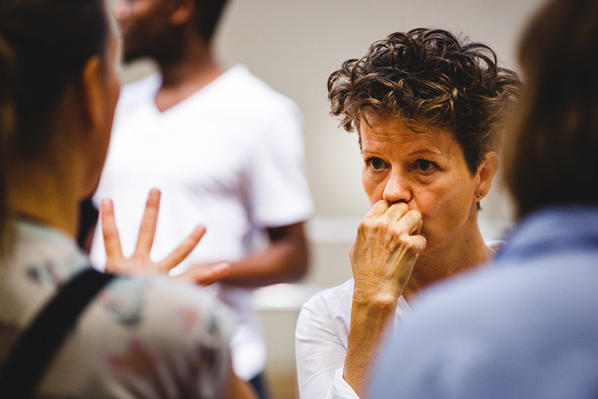 Sally Cookson (Director) in rehearsal for Peter Pan (Photo Steve Tanner)