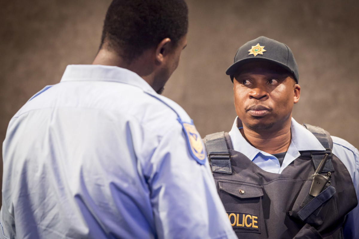 Lunga Radebe and Desmond Dube in I See You at the Royal Court (Photo: Johan Persson)
