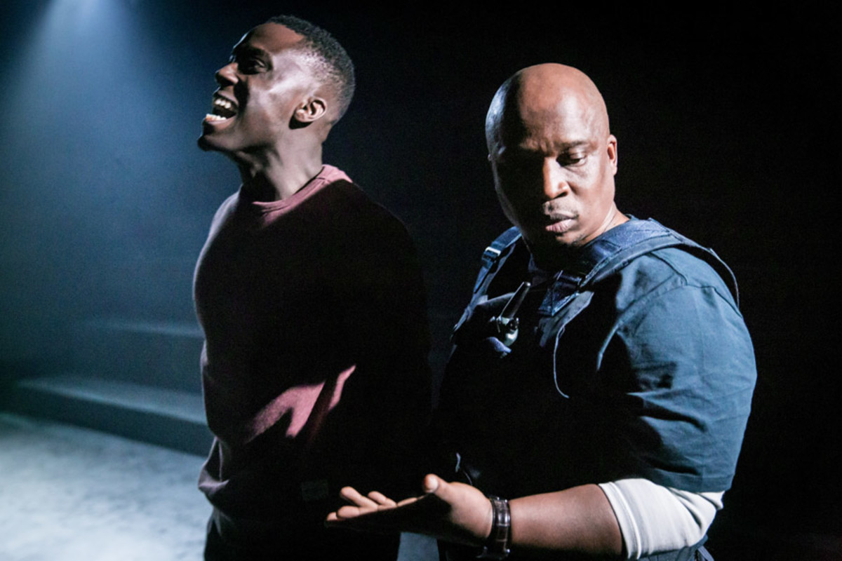 Bayo Gbadamosi and Desmond Dube in I See You at the Royal Court (Photo: Johan Persson)
