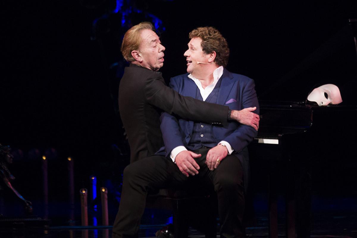 Andrew Lloyd Webber and Michael Ball.  (Photo: Dan Wooller)