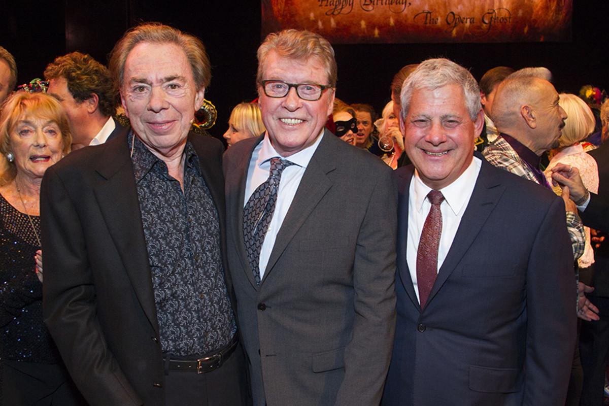 Andrew Lloyd Webber, Michael Crawford and Cameron Mackintosh.  (Photo: Dan Wooller)