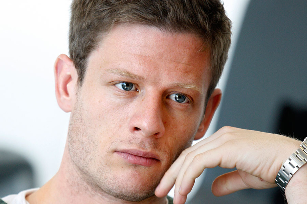 James Norton in rehearsals for Bug, playing at Found111 (Photo: Simon Annand)