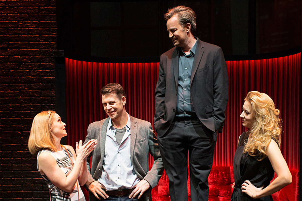Christina Cole, Lloyd Owen, Matthew Perry and Jennifer Mudge in The End Of Longing (Photo: Helen Maybanks)