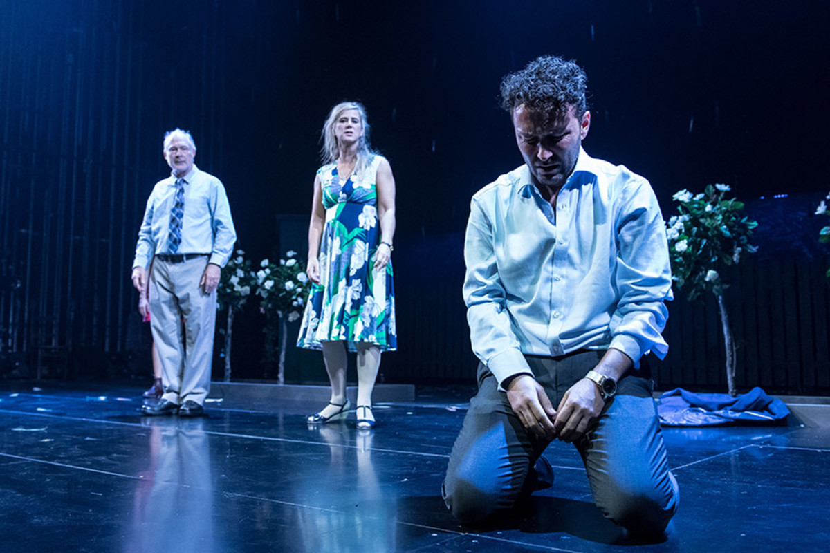 Ewan Stewart, Imogen Stubbs and Richard Mylan in Things I Know To Be True at the Lyric Hammersmith (Photo: Manuel Harlan)