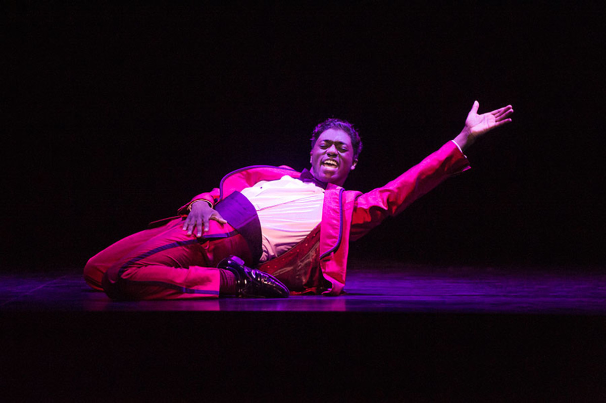 Samuel Edwards in Motown The Musical (Photo: Alastair Muir)
