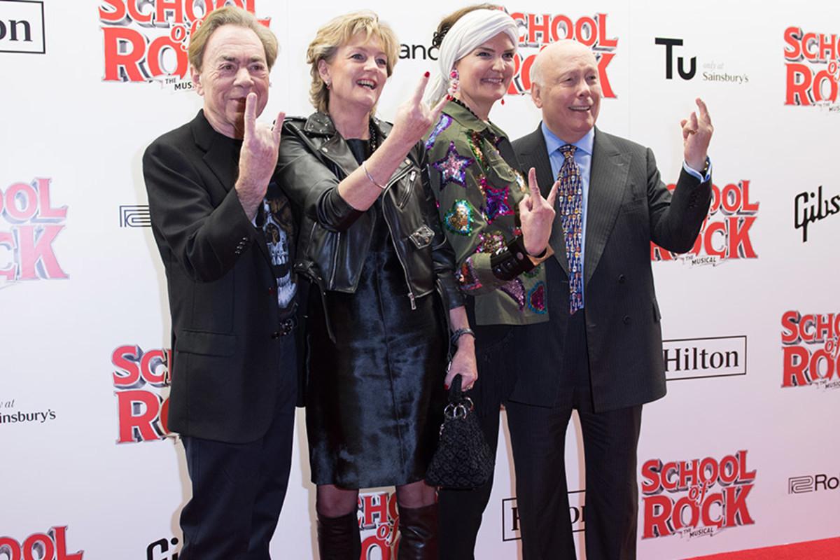 Andrew Lloyd Webber, Madeleine Lloyd Webber, Emma Joy Kitchener and Julian Fellowes (Photo: Craig Sugden)