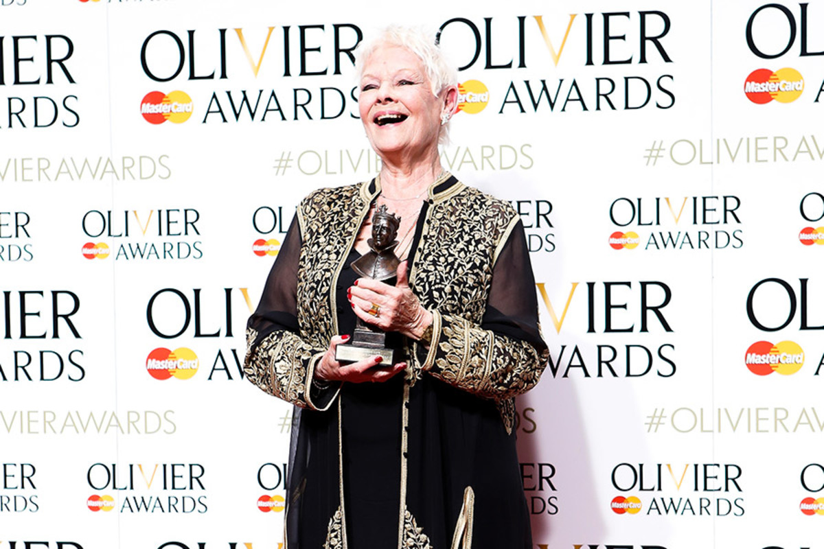 Judi Dench, winner of the Olivier Award for Best Actress in a Supporting Role for The Winter's Tale (Photo: Pamela Raith)