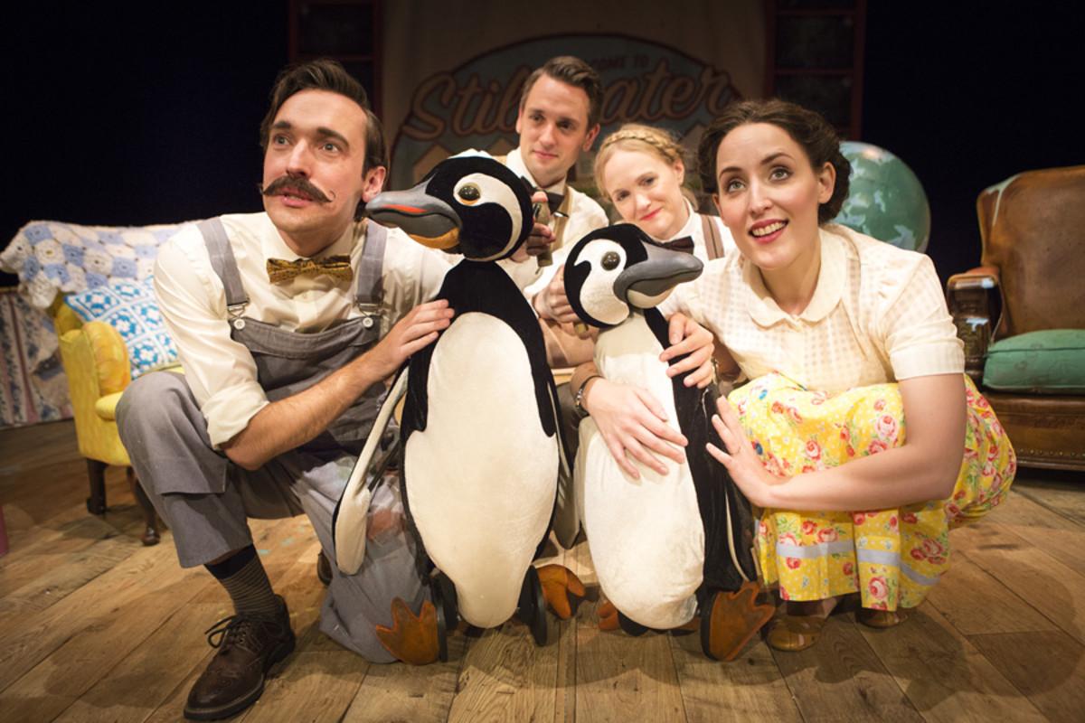 Russell Morton, Toby Manley, Lucy Grattan, Roxanne Palmer in Mr Popper's Penguins (Photo: Helen Murray)