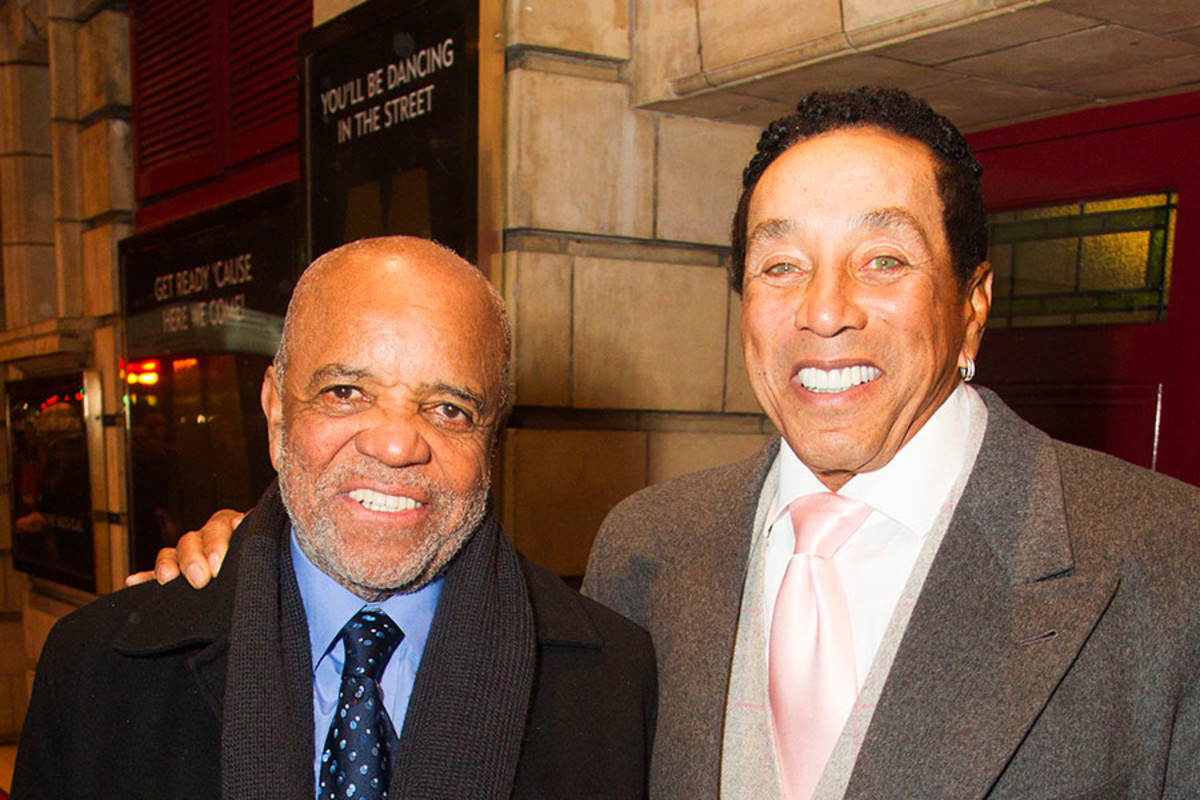 Berry Gordy and Smokey Robinson at the press night for Motown The Musical (Photo: Dan Wooller)