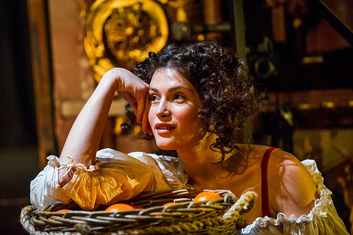 Gemma Arterton stars in Nell Gwynn, playing at the Apollo Theatre (Photo: Tristram Kenton)