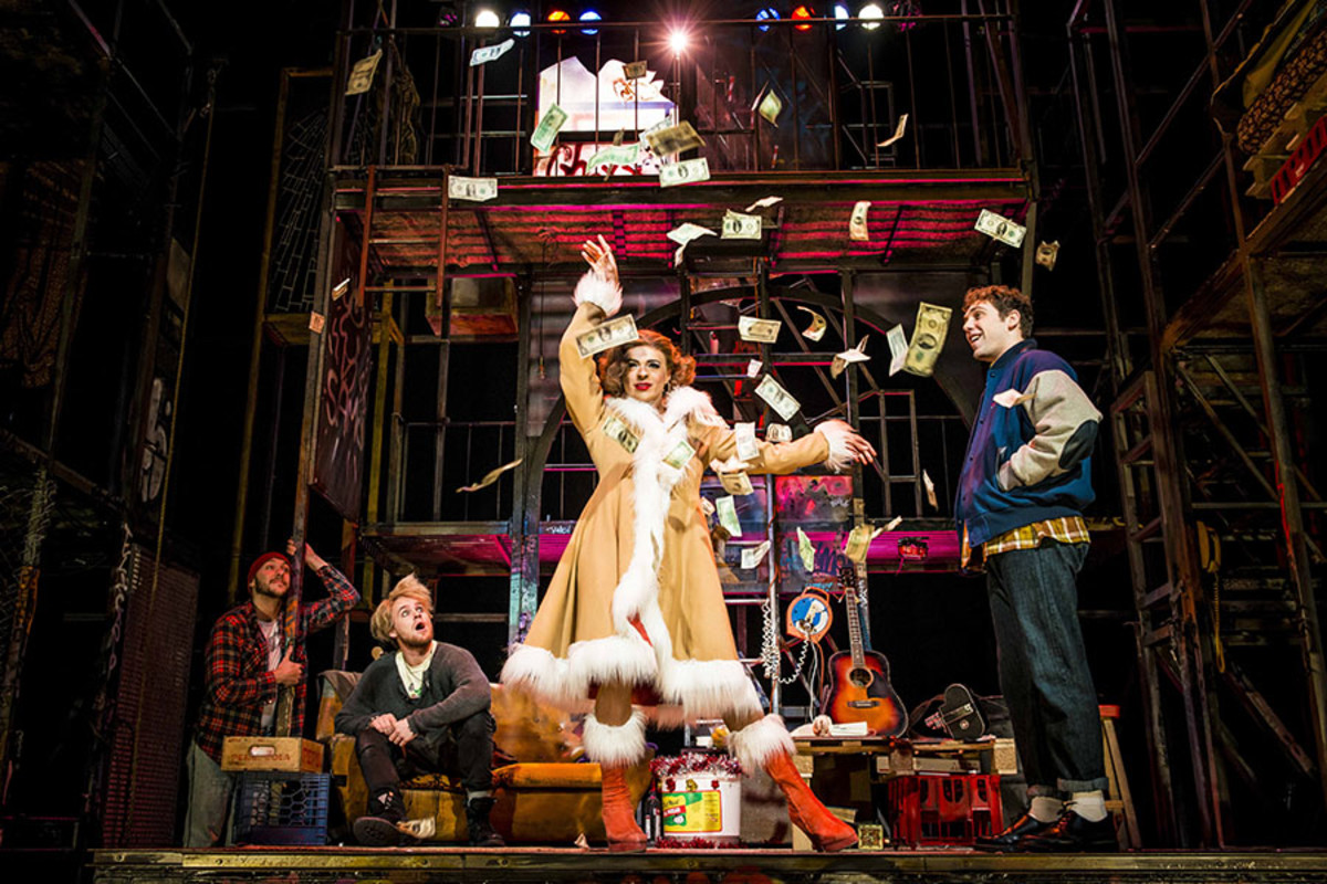 Layton Williams as Angel with the cast of RENT (Photo: Matt Crockett)