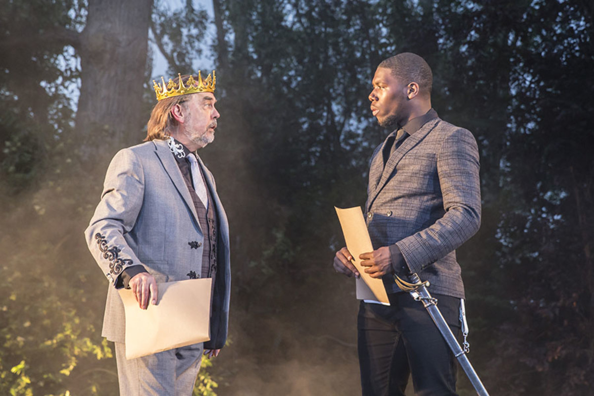 David Sibley and Dwane Walcott in Henry V at Regent's Park Open Air Theatre (Photo: Johan Persson)