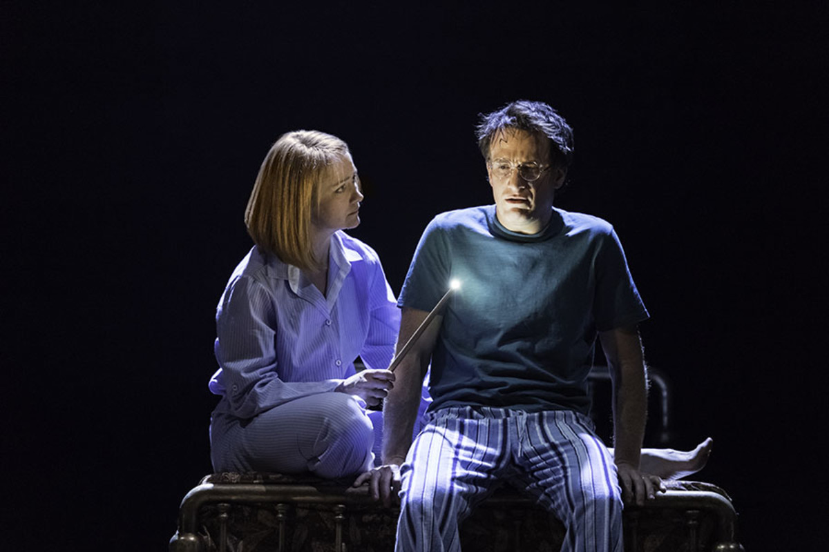 Poppy Miller and Jamie Parker in Harry Potter And The Cursed Child at the Palace Theatre (Photo: Manuel Harlan)