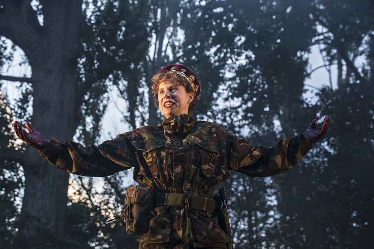 Michelle Terry in Henry V at Regent's Park Open Air Theatre (Photo: Johan Persson)