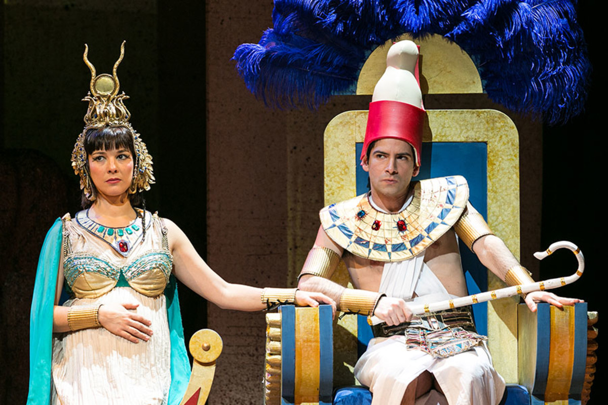 Jasmine Hyde and Niv Petel in NotMoses, playing at the Arts Theatre (Photo: Darren Bell)