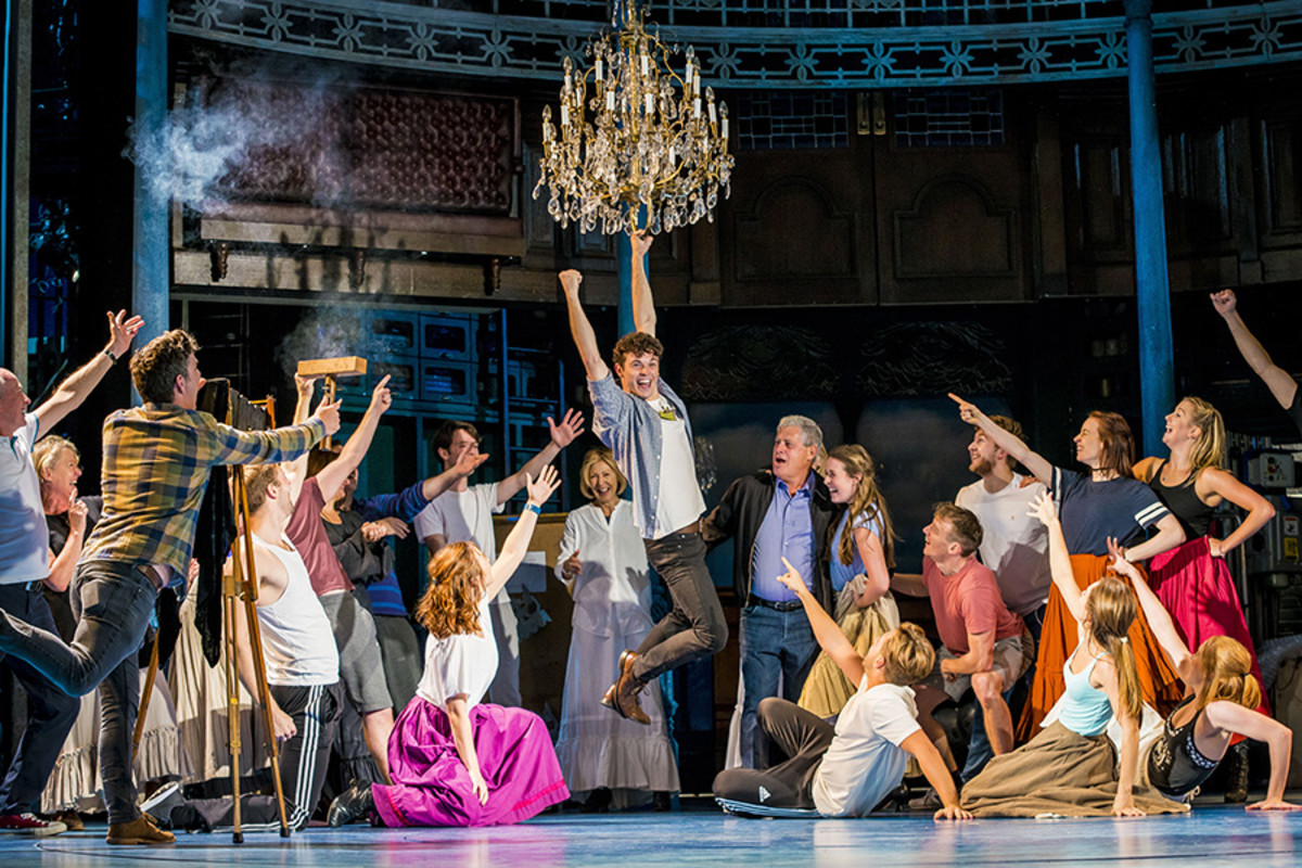 Sir Cameron Mackintosh and the cast of Half A Sixpence at the Noël Coward Theatre (Photo: Matt Crockett)