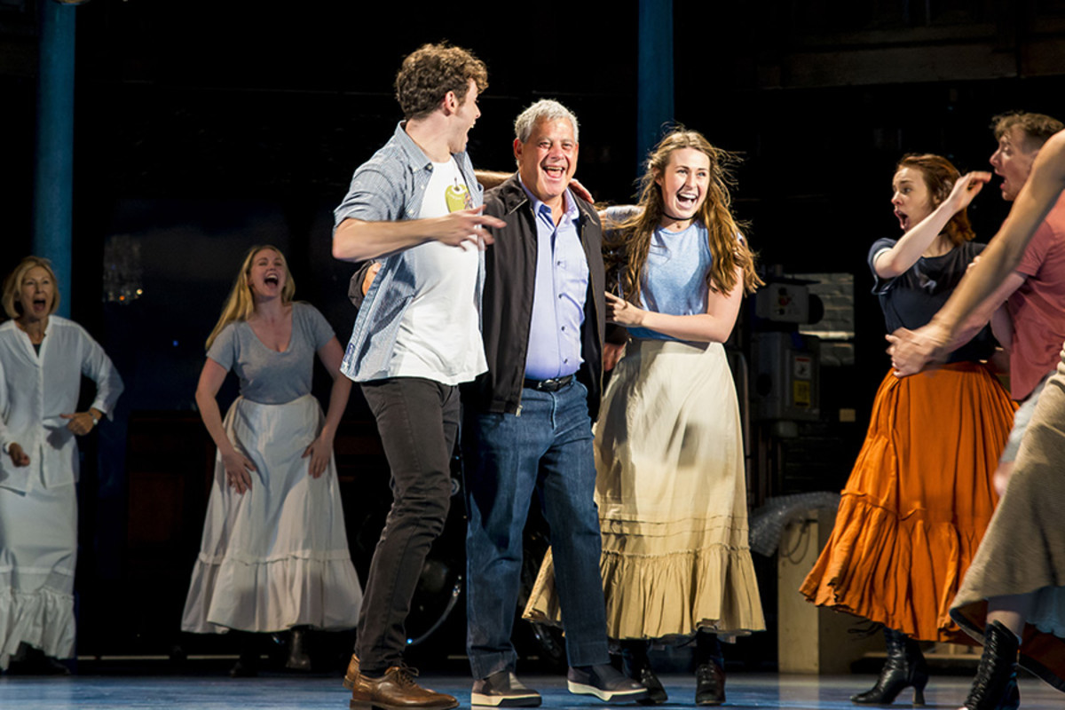Charlie Stemp, Sir Cameron Mackintosh, Devon Elise Johnson and the cast of Half A Sixpence at the Noël Coward Theatre (Photo: Matt Crockett)