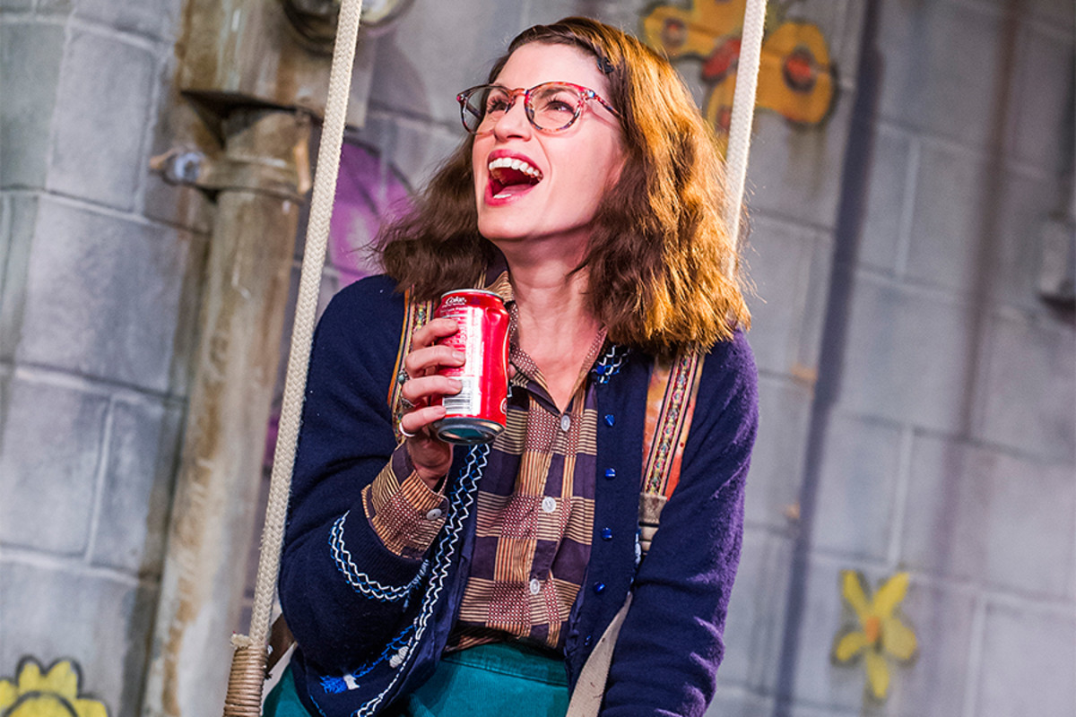 Jemima Rooper in Hand To God at the Vaudeville Theatre