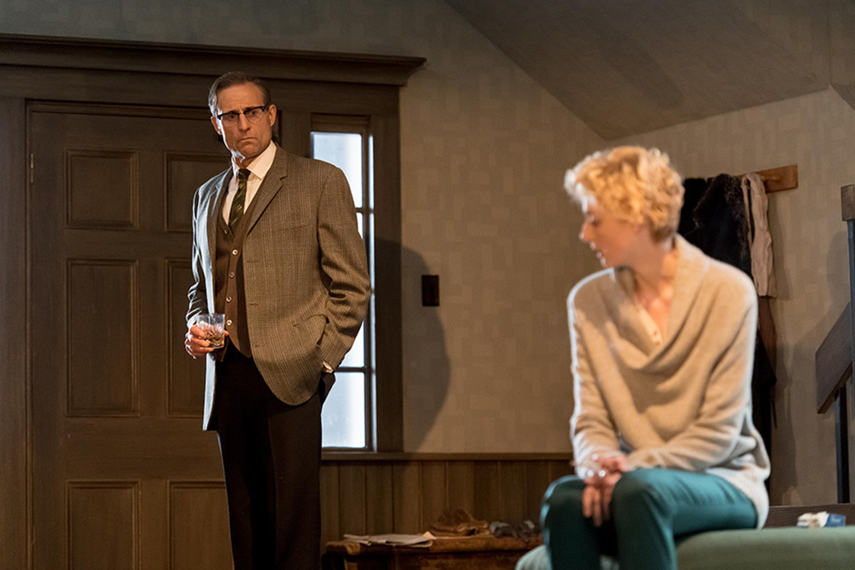Mark Strong and Elizabeth Debicki in The Red Barn at the National Theatre (Photo: Manuel Harlan)