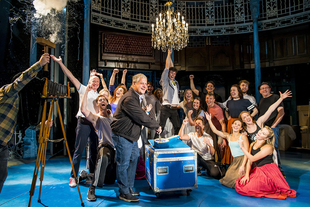 The cast of Half A Sixpence at the Noël Coward Theatre (Photo: Matt Crockett)