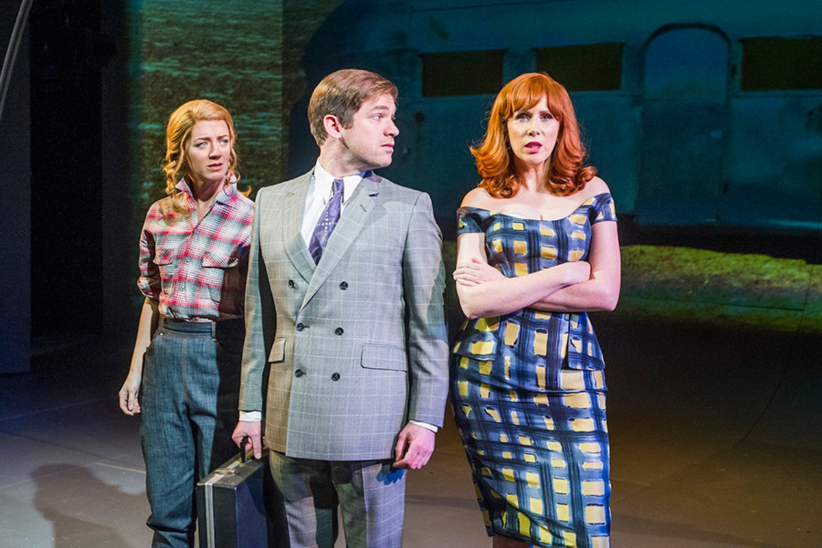 Florence Andrews, Daniel Boys and Catherine Tate in Miss Atomic Bomb (Photo: Tristram Kenton)