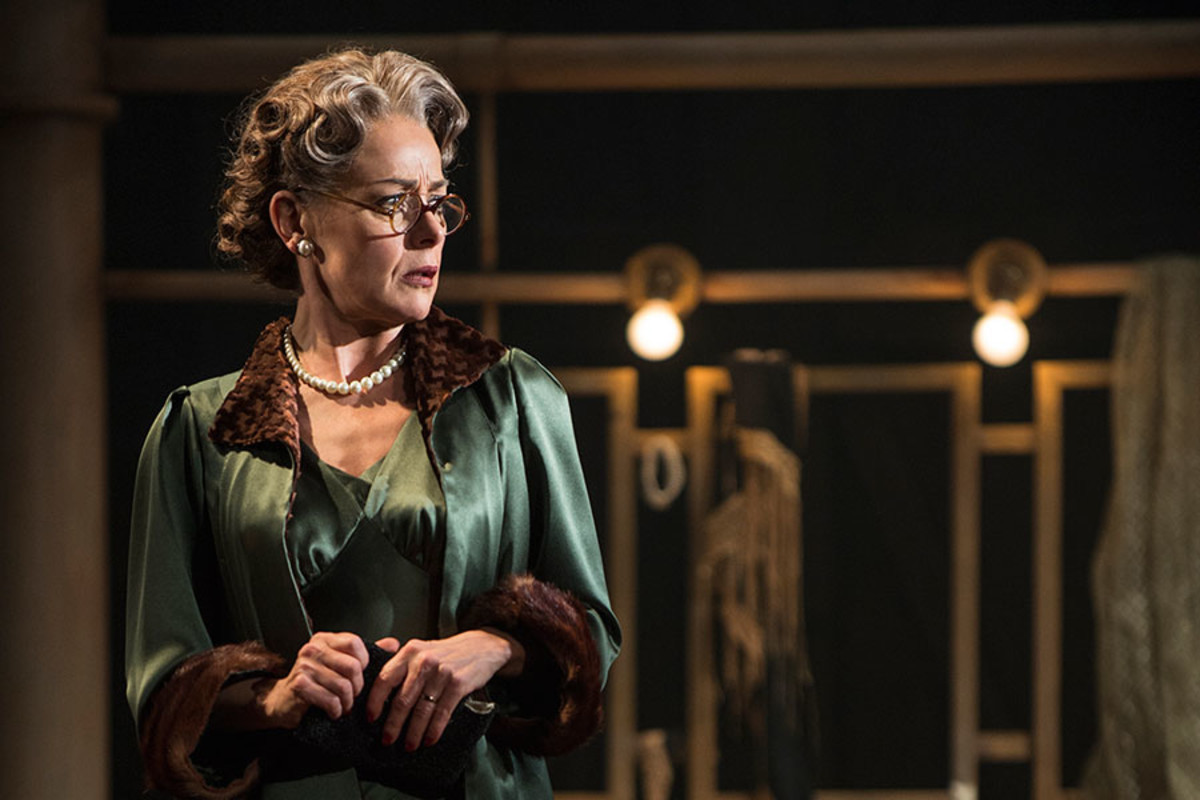 Tracie Bennett stars in Mrs Henderson Presents, the new musical at the Noel Coward Theatre (Photo: Paul Coltas)