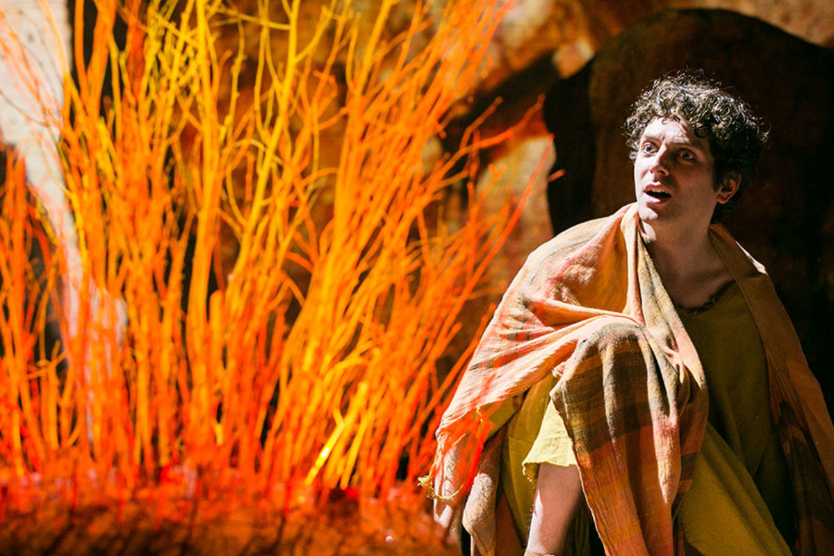 Thomas Nelstrop in NotMoses, playing at Art Theatre (Photo: Darren Bell)