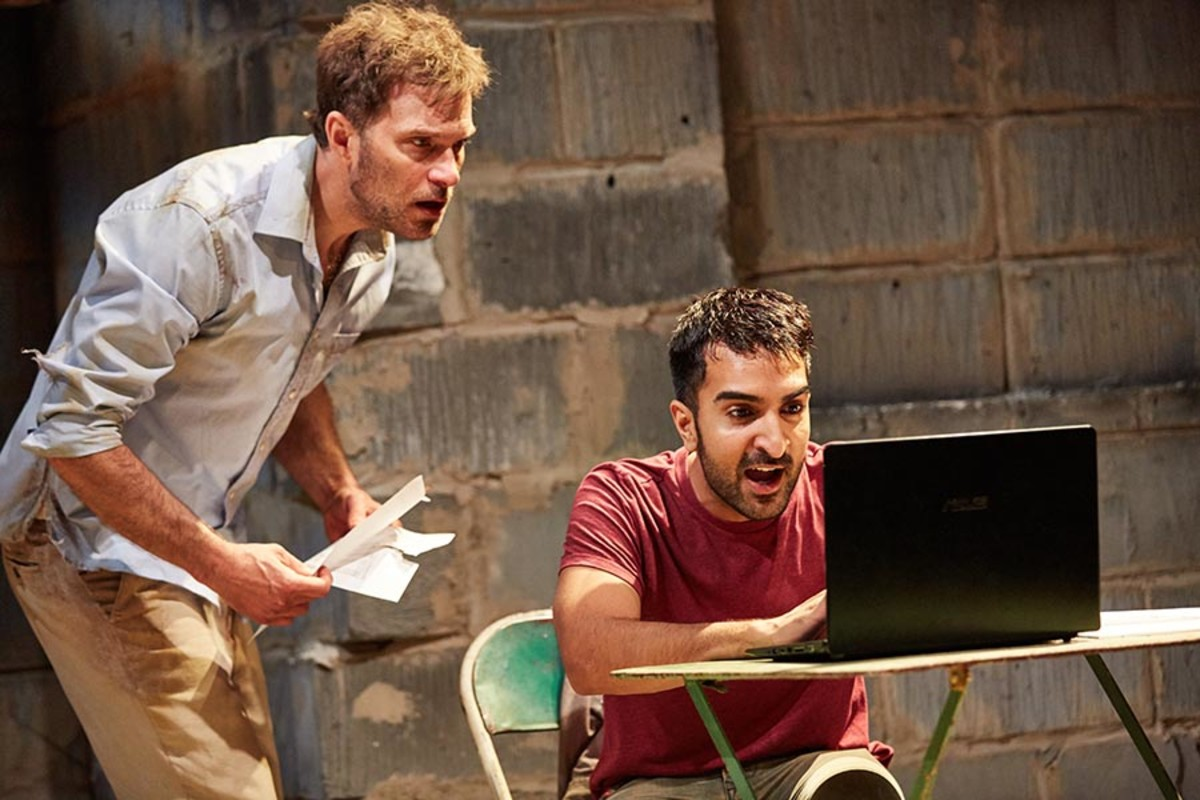 Daniel Lapaine and Parth Thakerar in The Invisible Hand (Photo: Mark Douet)