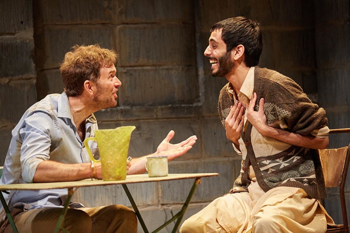 Daniel Lapaine and Sid Sagar in The Invisible Hand (Photo: Mark Douet)