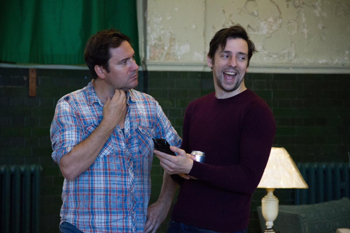 Rufus Jones and Ralf Little in Dead Funny (Photo: Grace Wordsworth)