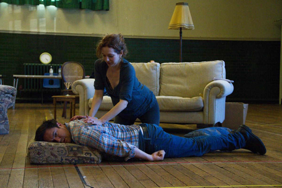 Rufus Jones and Katherine Parkinson in Dead Funny (Photo: Grace Wordsworth)