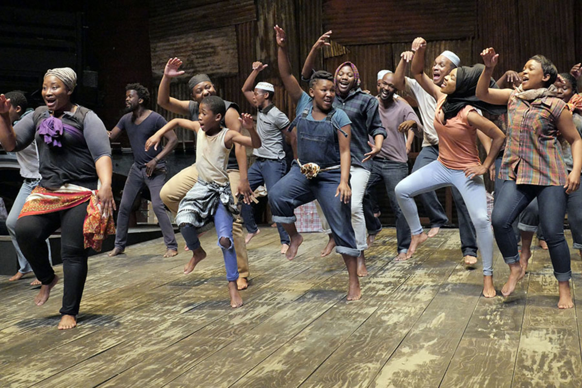The cast of A Man Of Good Hope at the Young Vic (Photo: Keith Pattison)