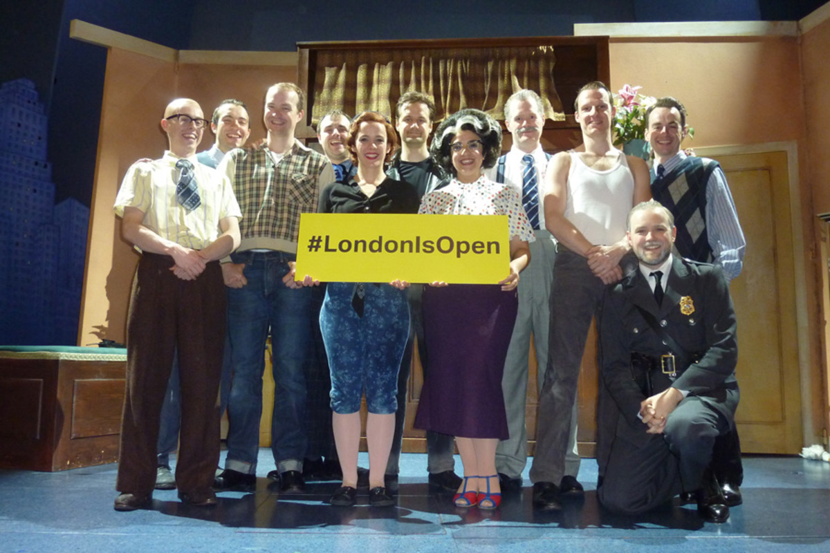 #LondonIsOpen – cast of The Comedy About A Bank Robbery
