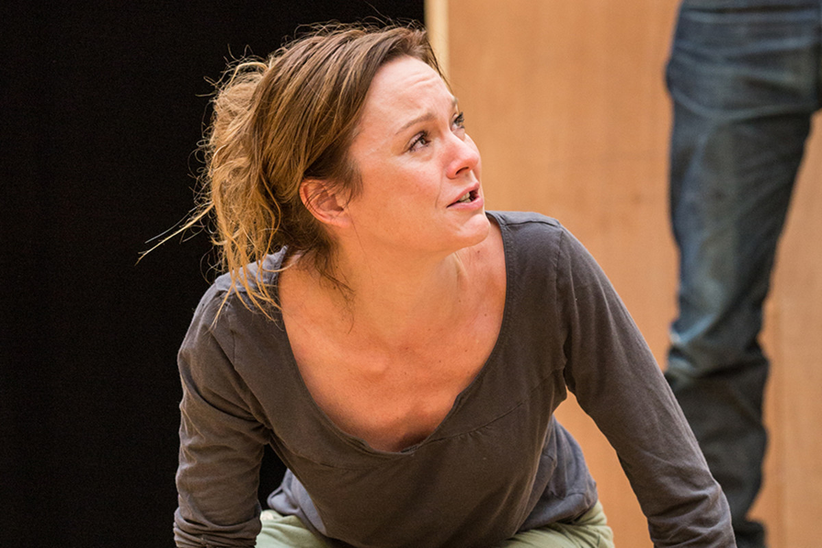 Rachael Stirling in rehearsals for The Winter's Tale at Shakespeare's Globe (Photo: Marc Brenner)