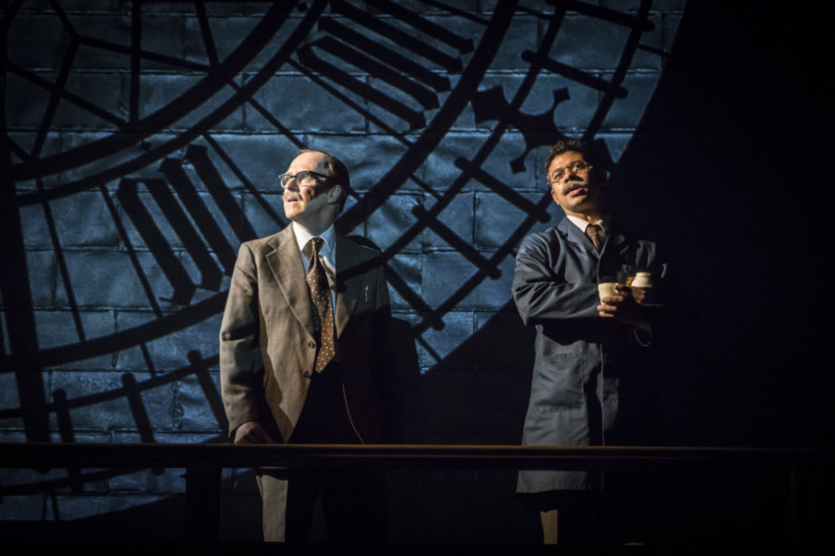 Kevin Doyle and Robert Gilbert in This House at Chichester Festival Theatre (Photo: Johan Persson)