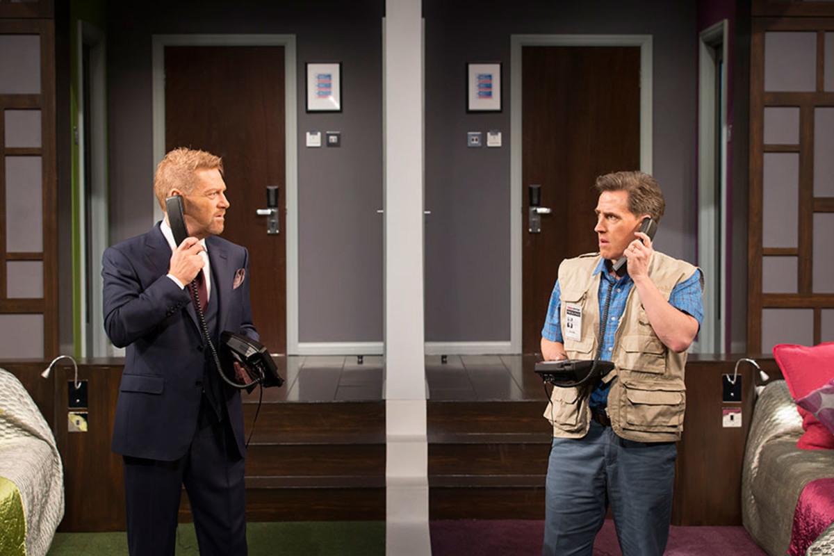Kenneth Branagh and Rob Brydon in The Painkiller, playing at Garrick Theatre (Photo: Johan Persson)