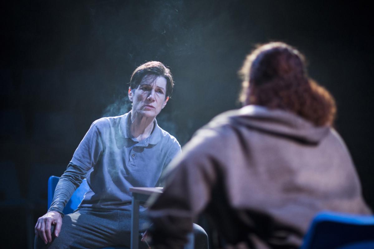 Harriet Walter (Brutus) in Julius Caesar (Photo: Helen Maybanks)
