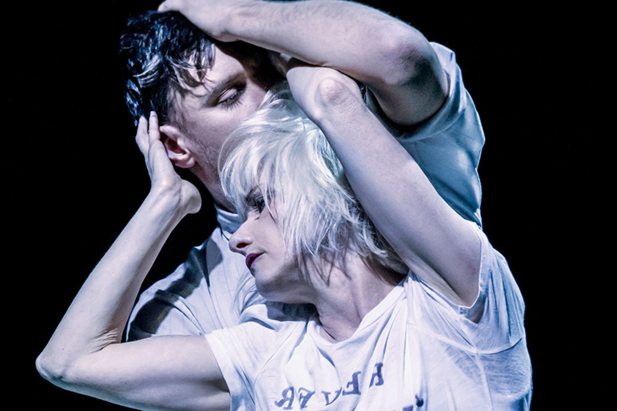 Jane Horrocks and Conor Doyle in If You Kiss Me, Kiss Me at the Young Vic