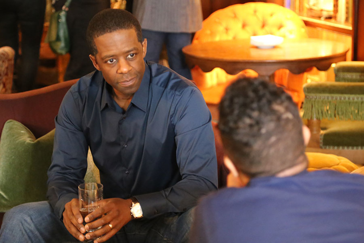 Best Actor nominee Adrian Lester at the Olivier Awards 2016 with MasterCard nominees' celebration