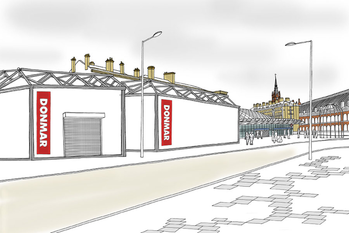 An artist's impression of Donmar King's Cross