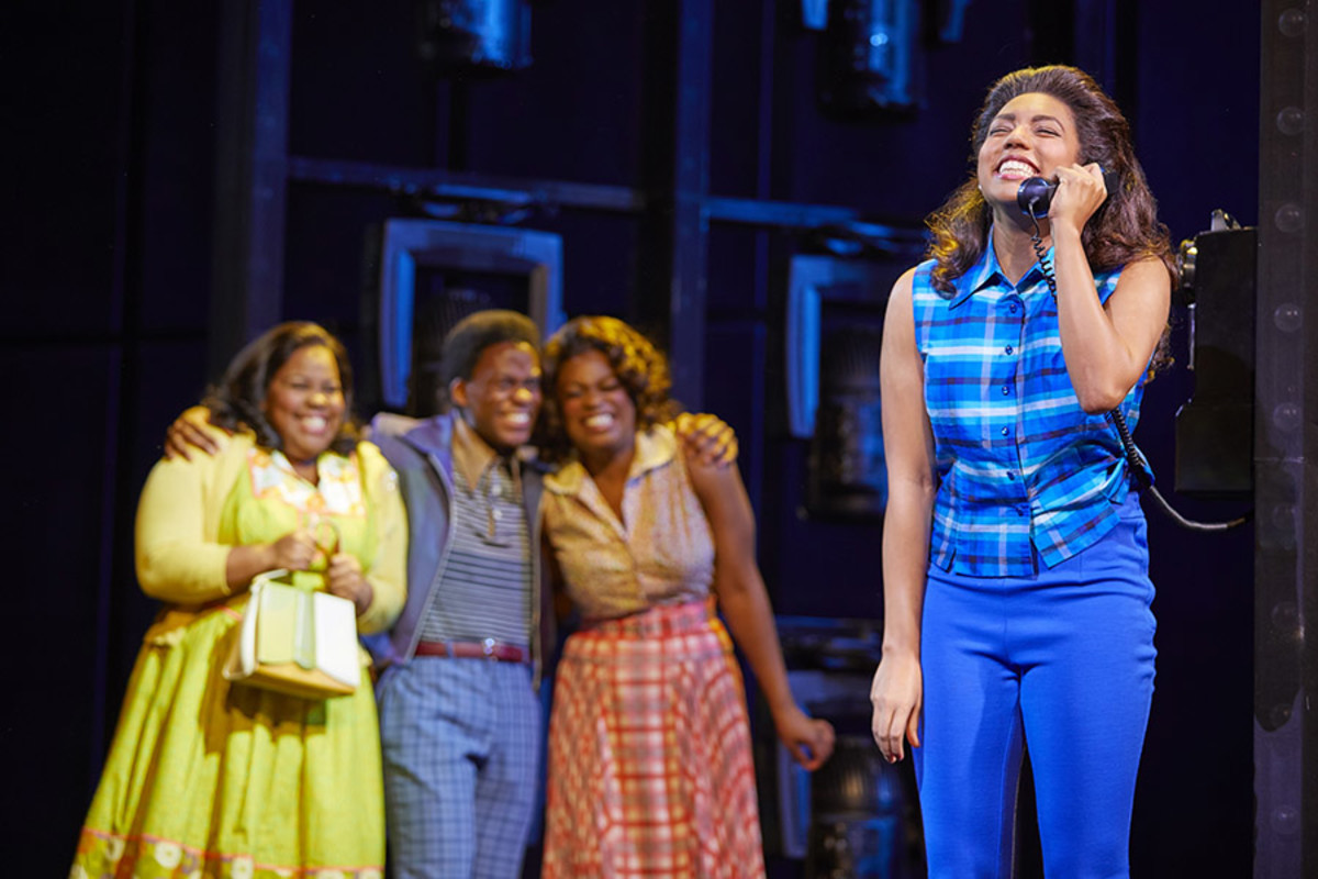 Amber Riley, Tyrone Huntley, Ibinabo Jack and Liisi LaFontaine in Dreamgirls at the Savoy Theatre (Photo: Brinkhoff/Mögenburg)