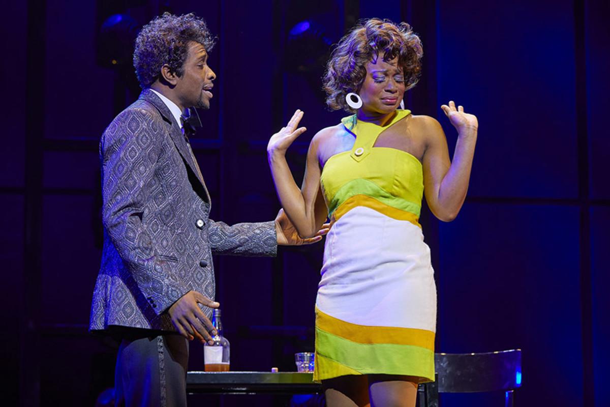 Adam J. Bernard and Ibinabo Jack in Dreamgirls at the Savoy Theatre (Photo: Brinkhoff/Mögenburg)