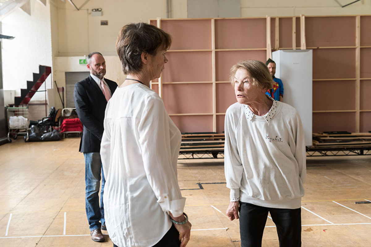 Celia Imrie and Glenda Jackson in rehearsal for King Lear at The Old Vic (Photo: Manuel Harlan)