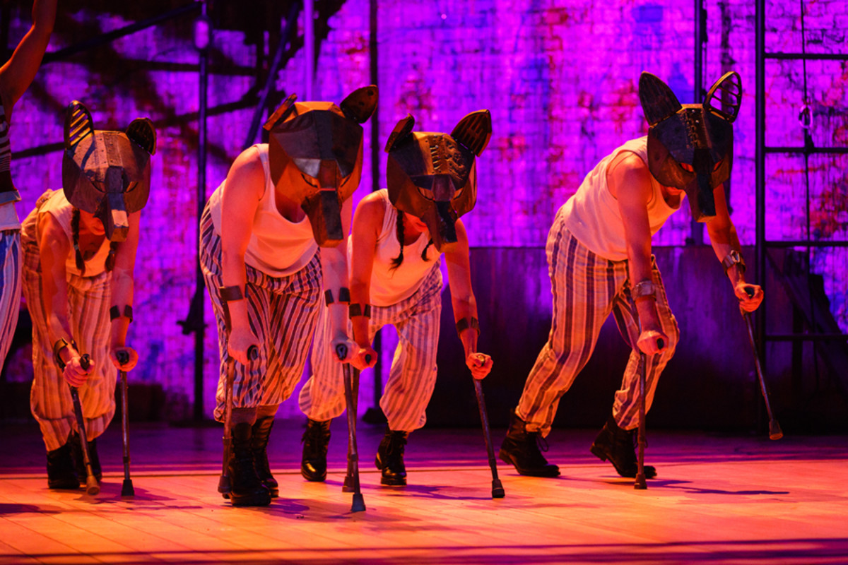 The wolves in Peter Pan (Photo Steve Tanner)