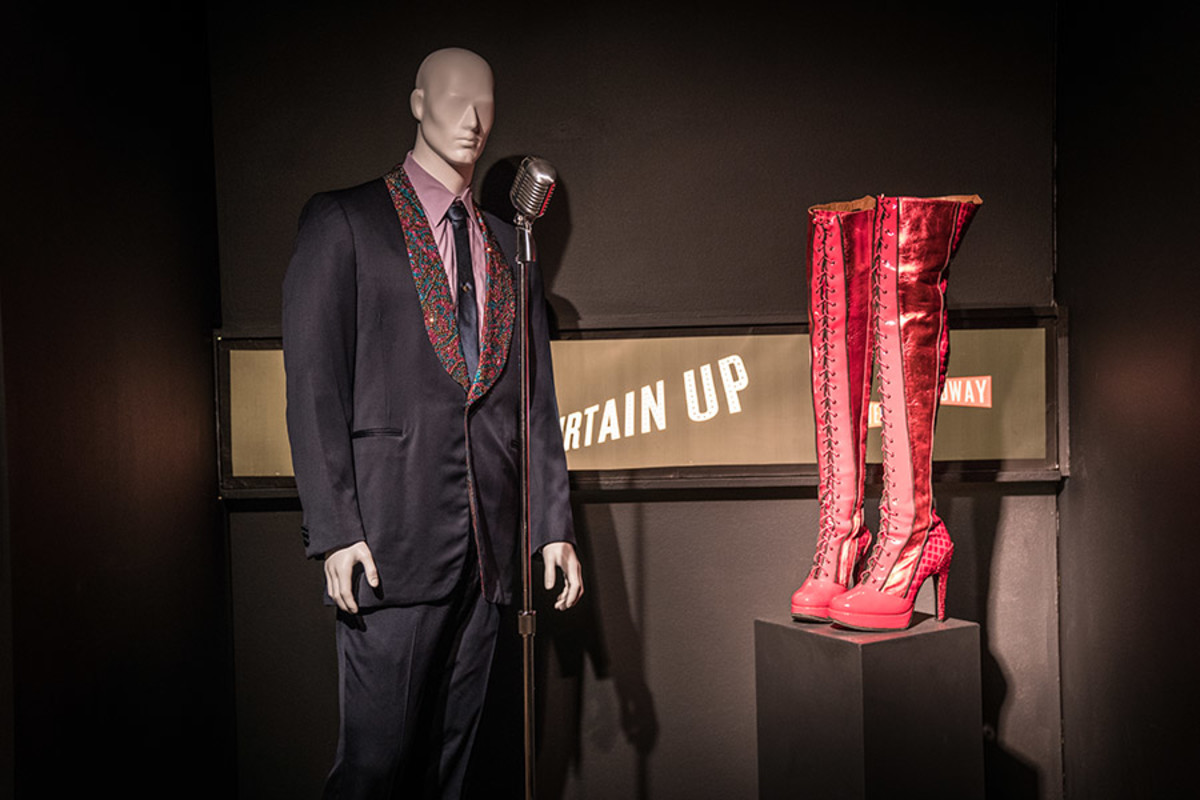 Bob Gaudio 'Dawn' Costume from Jersey Boys and Kinky Boots from Kinky Boots at the Curtain Up Exhibition (copyright Jonathan Blanc & New York Public Library)