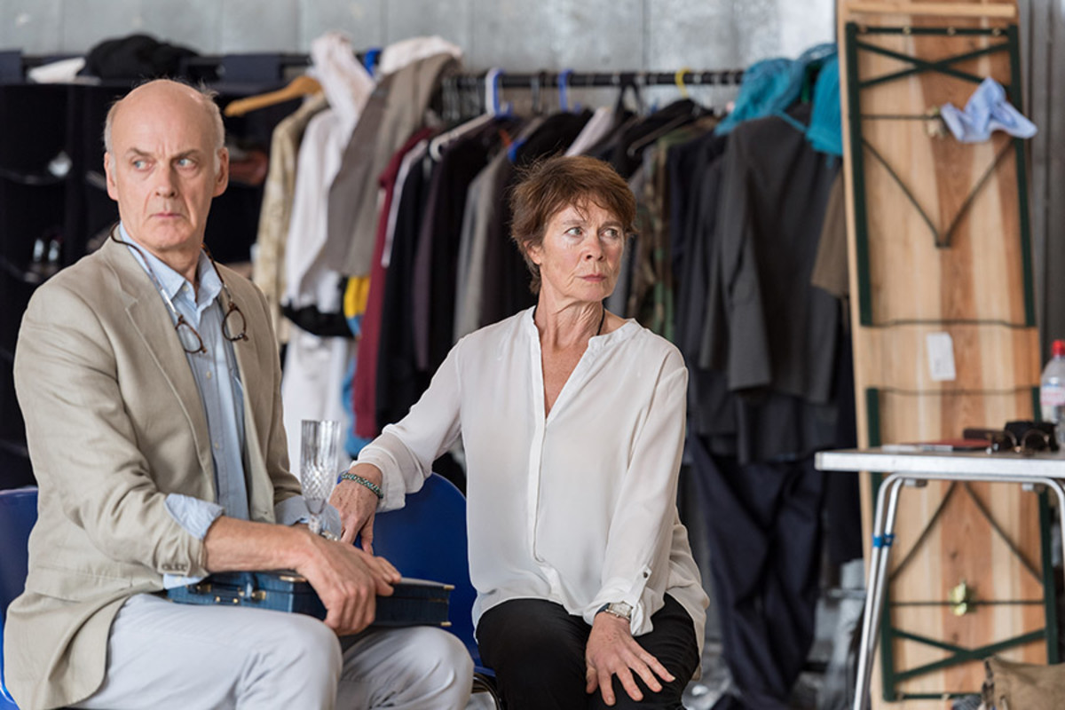 William Chubb and Celia Imrie in rehearsal for King Lear at The Old Vic (Photo: Manuel Harlan)