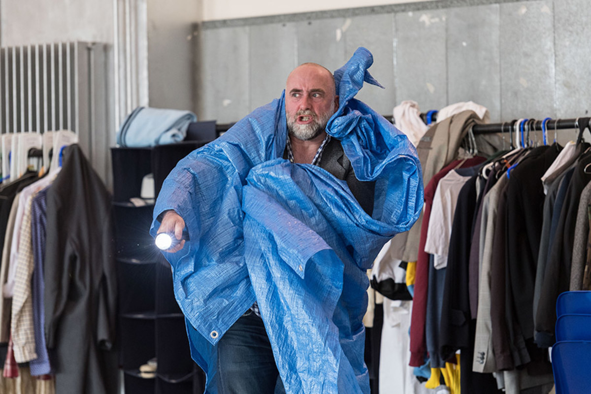 Stephen Kennedy in rehearsal for King Lear at The Old Vic (Photo: Manuel Harlan)