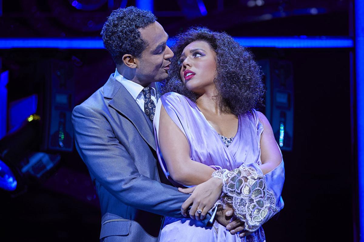 Joe Aaron Reid and Liisi LaFontaine in Dreamgirls at the Savoy Theatre (Photo: Brinkhoff/Mögenburg)